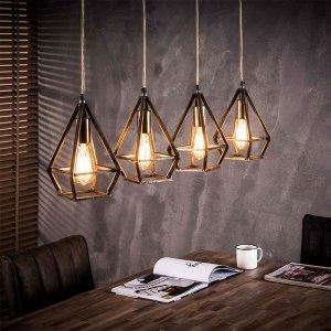Hanglamp Bohdan - 4 Lichts - Grijs