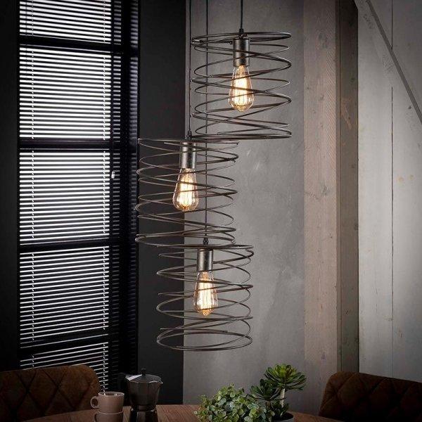 Hanglamp Carly - 3 Lichts - Zwart