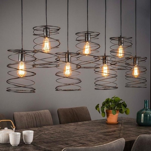 Hanglamp Carly - 7 Lichts - Zwart