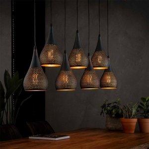 Hanglamp Conroy - 7 Lichts - Bruin