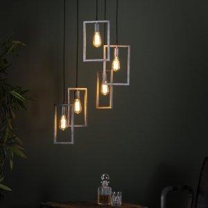 Hanglamp Corlo - 5L - Grijs