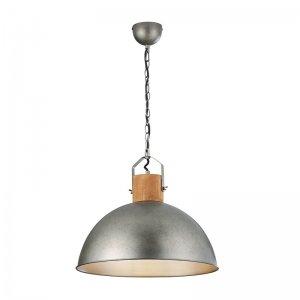 Hanglamp Delhi - Metaal - 1 Lichtbron - Nickel - Grijs