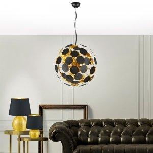 Hanglamp Discalgo - Metaal - Mat Zwart - Grijs