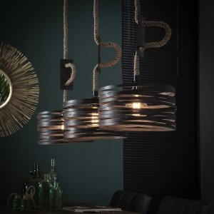 Hanglamp Drena - 3L - Bruin