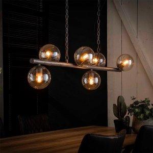 Hanglamp Duuk - 6 Lichts - Grijs