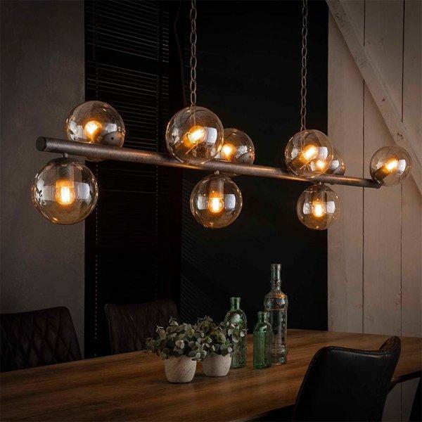 Hanglamp Duuk - 9 Lichts - Grijs