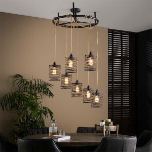 Hanglamp Elevate - Rond - Bruin