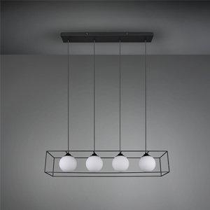 Hanglamp Gabbia - Metaal - Zwart Mat