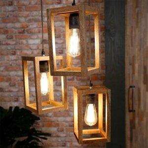 Hanglamp Hershey - 3 Stuks - Bruin