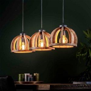Hanglamp Jackson - 3x 30 cm - Bruin