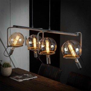Hanglamp Juno - 4 Lichts - Grijs