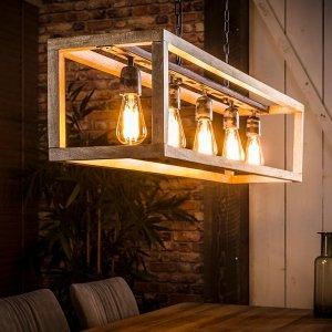Hanglamp Kube - 5L - Bruin
