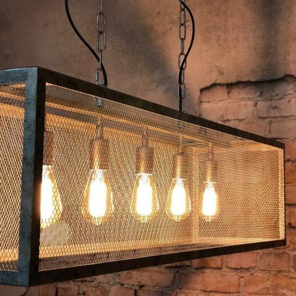 Hanglamp Lansdale - 5L - Grijs