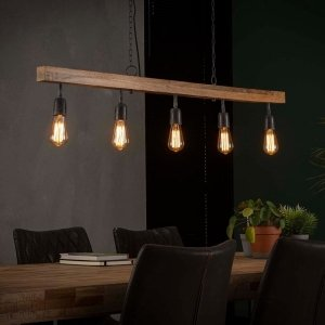Hanglamp Lima - 5 Lichts - Bruin