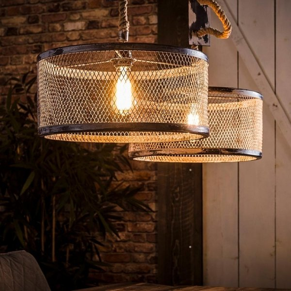 Hanglamp Melanie - Dubbel - Grijs