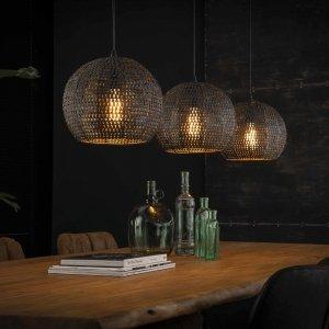 Hanglamp Melissa- 3L - Rond - Bruin