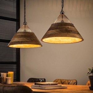 Hanglamp Nampa - 2x 40 cm - Bruin
