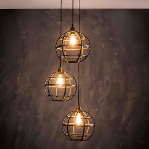 Hanglamp Newton - 3 Lichts - Grijs