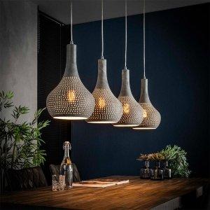 Hanglamp Rabat - Grijs - 4 Lichts