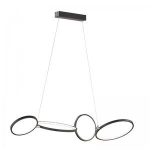 Hanglamp Rondo - Metaal - Zwart Mat