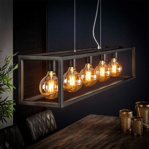 Hanglamp Senne - 5 Lichts - Grijs