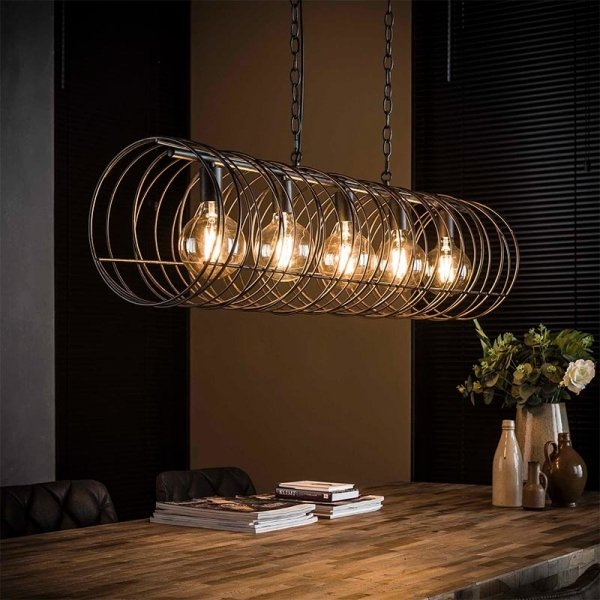 Hanglamp Solveij - 5 Lichts - Antraciet