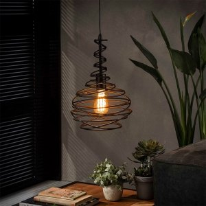 Hanglamp Spinn - 1x 25 cm - Antraciet