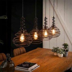 Hanglamp Spinn - 4x 25 cm - Antraciet