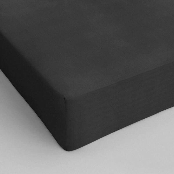 Hoeslaken Katoen - Antraciet - 70 x 200