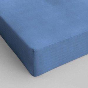 Hoeslaken Katoen - Blauw - 80 x 200