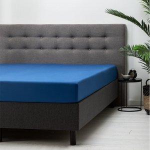 Hoeslaken Katoen - Blauw - 200 x 210