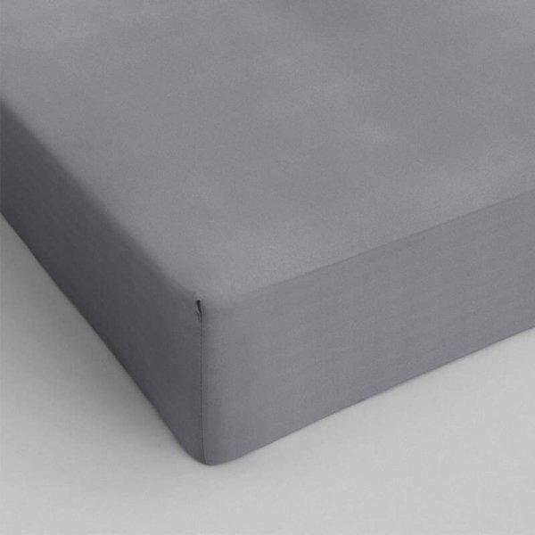 Hoeslaken Katoen - Grijs - 70 x 200