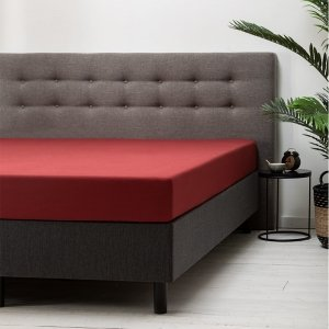 Hoeslaken Katoen - Rood - 180 x 210