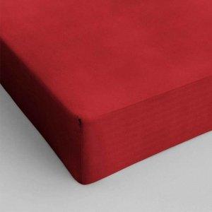 Hoeslaken Katoen - Rood - 70 x 200