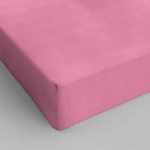 Hoeslaken Katoen - Roze - 70 x 200