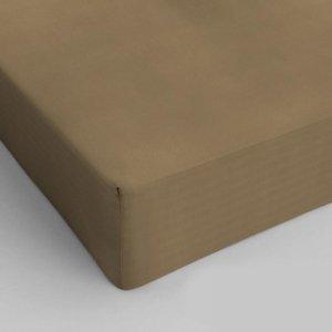 Hoeslaken Katoen - Taupe - 120 x 200