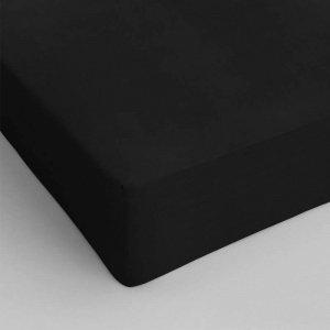 Hoeslaken Katoen - Zwart - 70 x 200