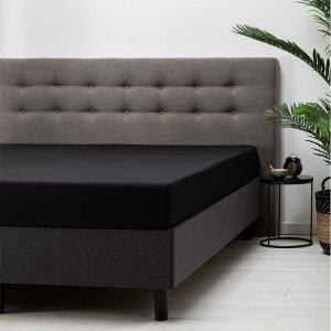 Hoeslaken Katoen -Zwart - 180 x 210