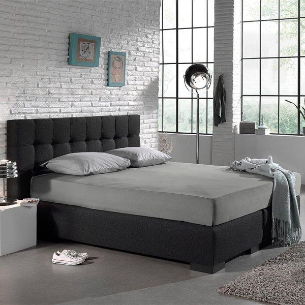 Jersey Hoeslaken - Home Care Grijs - 100 x 200
