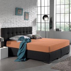 Jersey Hoeslaken - Home Care Pastel Oranje - 140 x 200