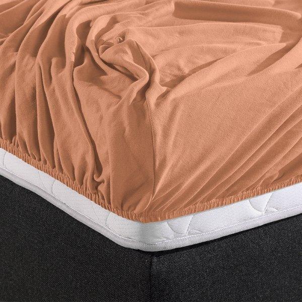 Jersey Hoeslaken - Home Care Pastel Oranje - 100 x 200