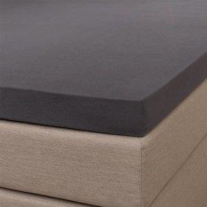 Jersey Splittopper Hoeslaken - Signature - Antraciet - 160 x 200