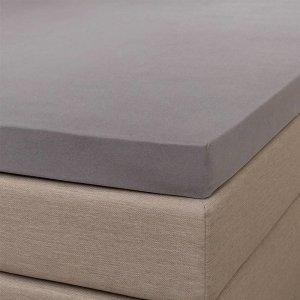 Jersey Splittopper Hoeslaken - Signature - Grijs - 160 x 200