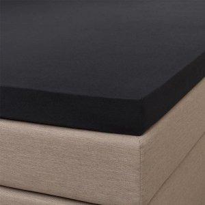 Jersey Splittopper Hoeslaken - Signature - Zwart - 160 x 200