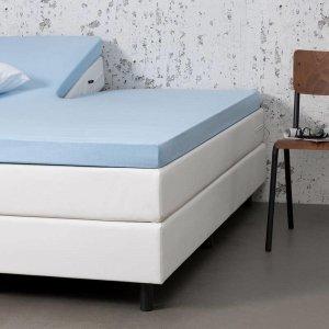 Jersey Stretch Splittopper Hoeslaken - Blauw - 160 x 200