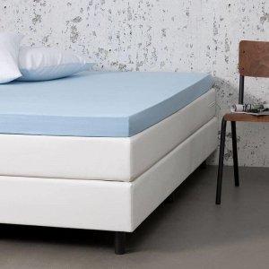 Jersey Stretch Topper Hoeslaken - Blauw - 120 x 200