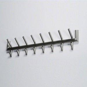 Kapstok Glendale - 2 x 8 Haaks - RVS - Zilver