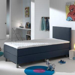 Kinderboxspring Comfort - Donkerblauw - Blauw - 90 x 200