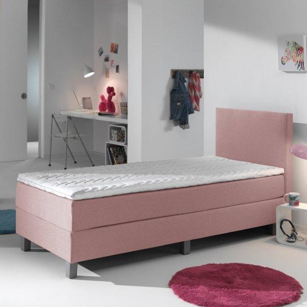 Kinderboxspring Comfort - Roze - 90 x 200
