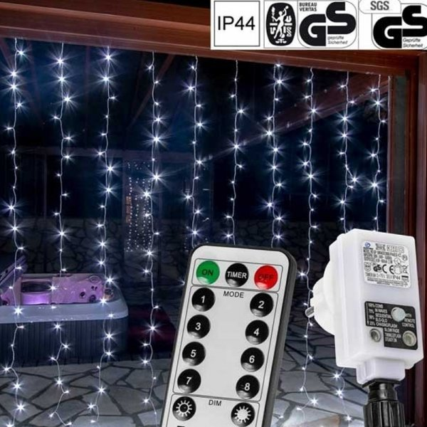 Lichtgordijn met 300 LED lampjes